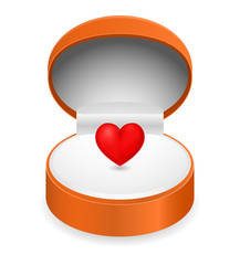 heart in gift box 3d icon