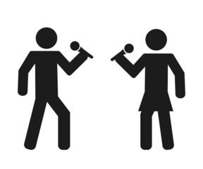 person icon people karaoke