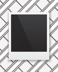 photo frame icon on film-strip background