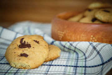 homemade cookies with chocolate chips