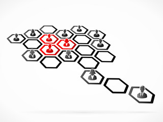 Customer segmentation concept illustration