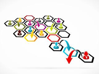 Restructuring concept illustration