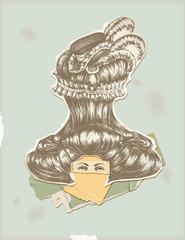Through history- Character 3 - woman big wig fashion
