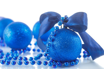 Christmas card with balls