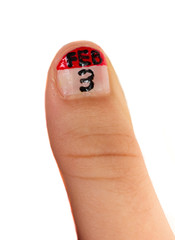 Creative fingernail painting - a calendar app