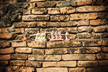 Thai temple brick wall