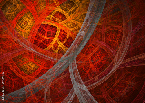 canvas print picture Hot red and orange abstract background
