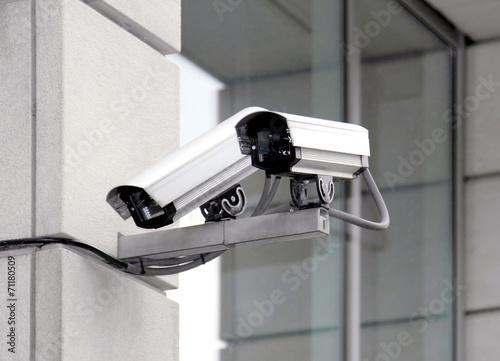 Leinwanddruck Bild Überwachungskamera