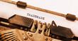 Leinwandbild Motiv Vintage typewriter
