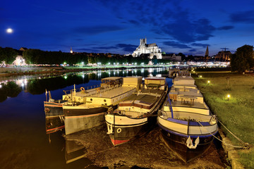 Auxerre, Bourgogne, le port fluvial