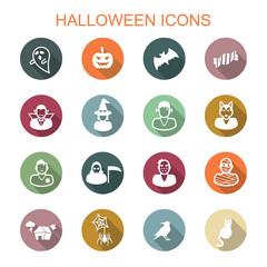 halloween long shadow icons