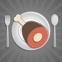 Icona piatto carne