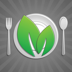 Icona piatto verdura