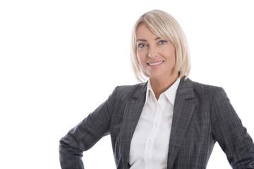 Portrait isoliert: erfolgreiche Frau in einer Führungsposition