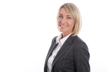 Portrait isoliert: erfolgreiche Frau im Vorstand