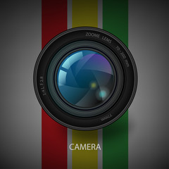 Vector camera shutter icon.