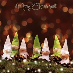 homemade  little elves.Decoration for Christmas time