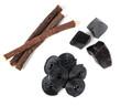 Leinwandbild Motiv Production steps of licorice, roots, pure blocks and candy.