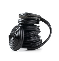 Stack of liquorice reels