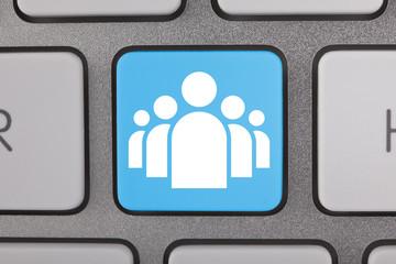 Blue White Social Networking