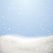 Schnee Kulisse