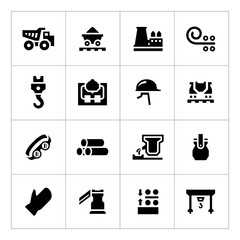 Set icons of metallurgy