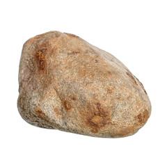 Brown stone on white