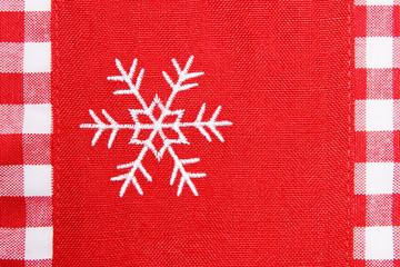Gestickte Schneeflocke