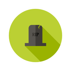 Grey Tombstone RIP Flat Icon
