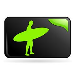 surf sur bouton web rectangle vert
