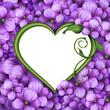 Obrazy na płótnie, fototapety, zdjęcia, fotoobrazy drukowane : romantic floral heart frame, Valentine's day background