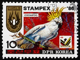 Postage stamp North Korea 1986 Cockatoo