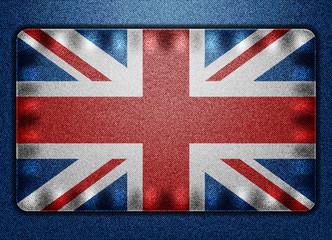 Great Britain denim flag