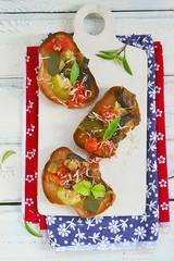 bruschetta with ratatouille