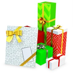 3d gift boxed with blank tag