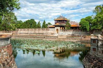 Fossato della Cittadella Imperiale di Hue, Vietnam
