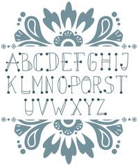 Hand written ABC letters
