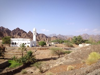 mosque in the mountains of dubai