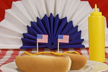 A Pair of Patriotic Hot Dogs