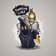 Traveling Light Cartoon Character