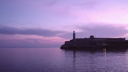 Cuba, Havana, El Morro Castle, lighthouse