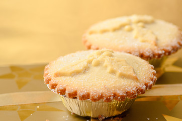 Mince pies, a traditional christmas sweet.