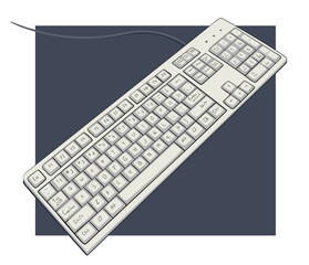 keyboard with characters