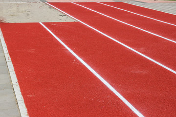 New track and long jump pit
