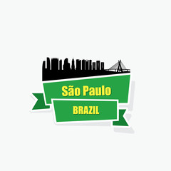 Sao Paulo ribbon banner