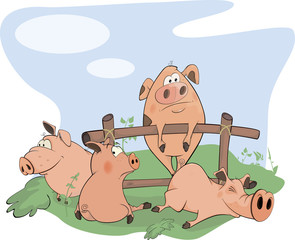 little pigs cartoon