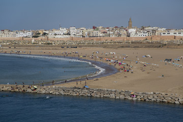 Beach in Rabat, Morocco