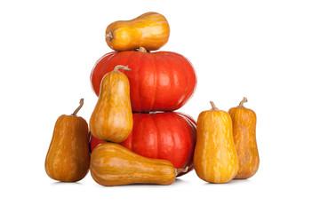 Stack of halloween pumpkins