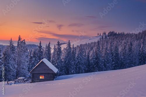 Staande foto Lavendel house