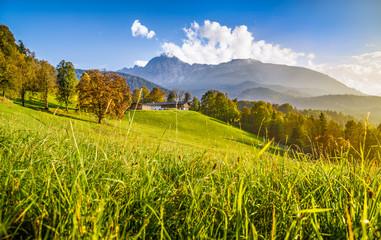 Beautiful autumn landscape in the Alps